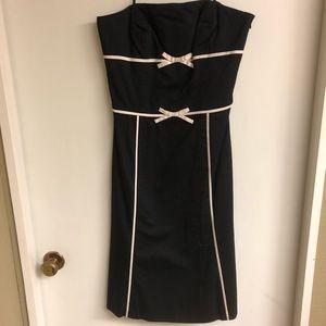 Ann Taylor black strapless dress